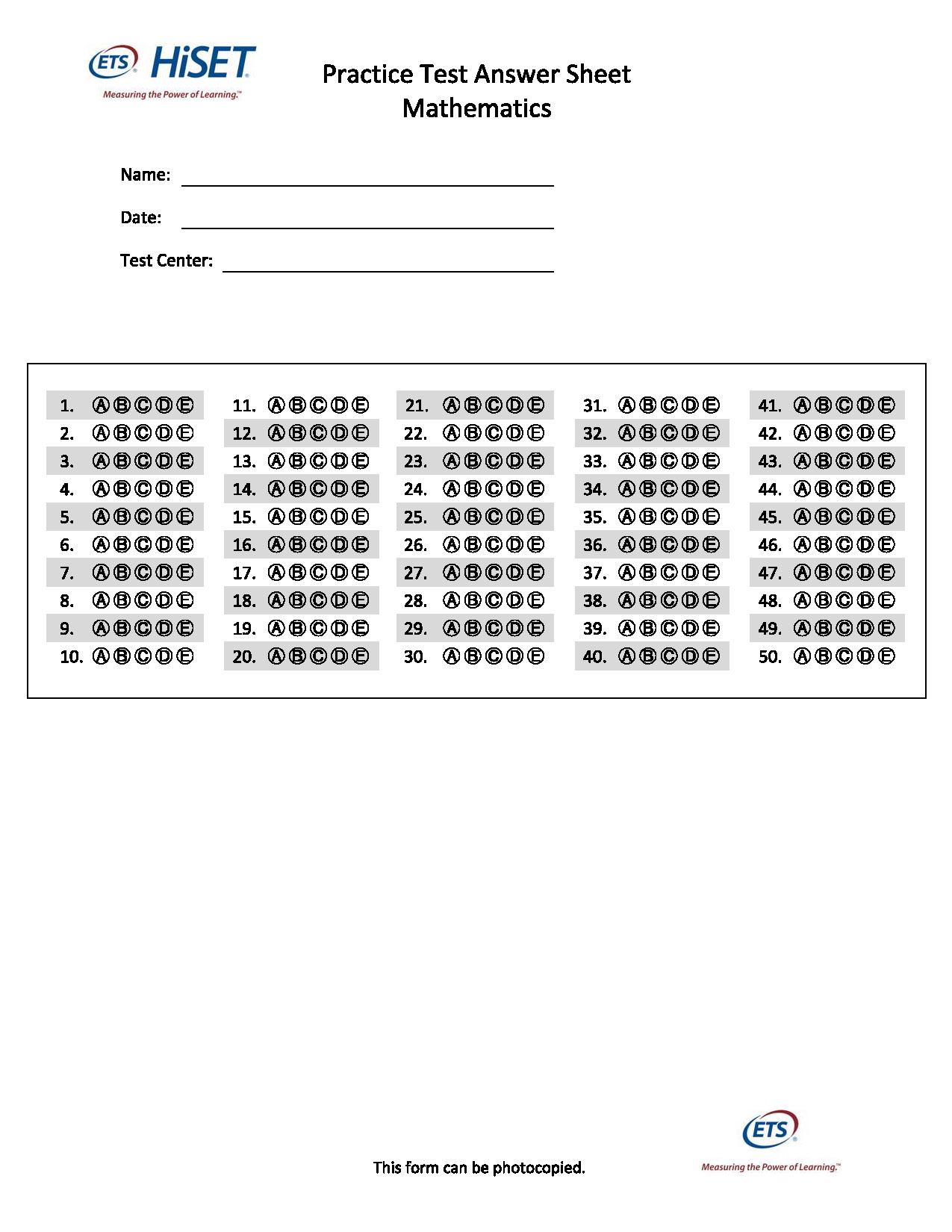 printable ged practice test a with answers pdf